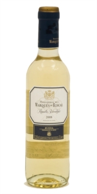 Vino blanco Marqués de Riscal 3/8 Medias